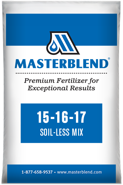 15-16-17 Soil-Less Mix Masterblend water-soluble fertilizer