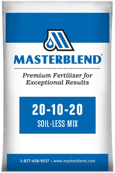 20-10-20 Soil-Less Mix Masterblend water-soluble fertilizer