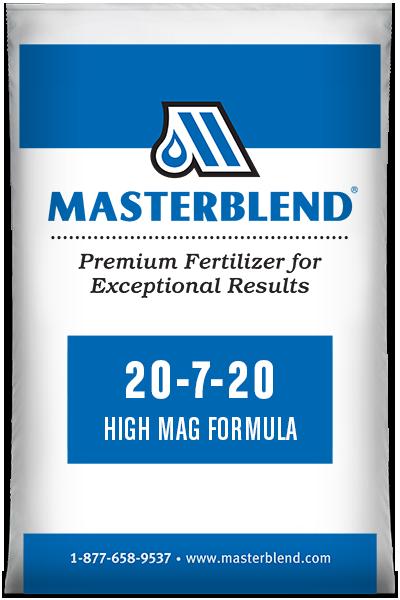 20-7-20 High Mag Formula Masterblend water-soluble fertilizer